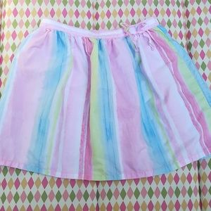 Pastel Watercolor Skirt